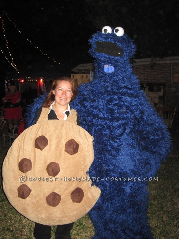 Cookie Monster with his favorite cookie!