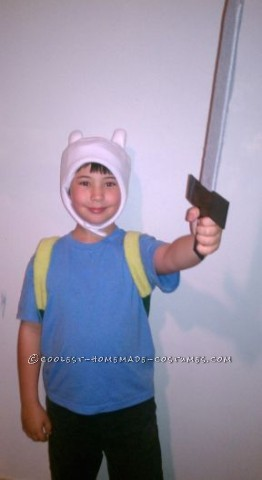 Easy Homemade Adventure Time Finn Costume