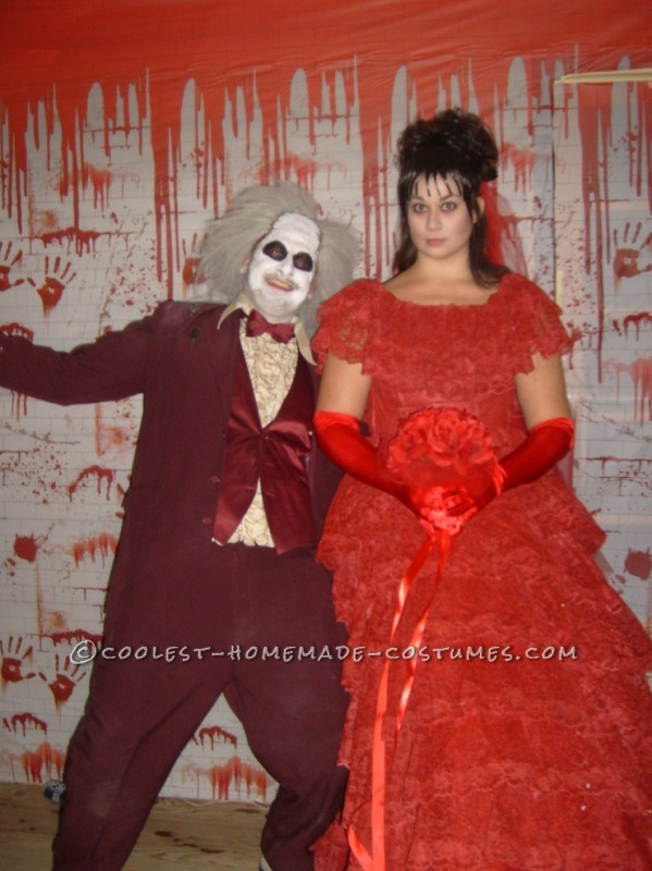Coolest Beetlejuice And Lydia Couple Costume
