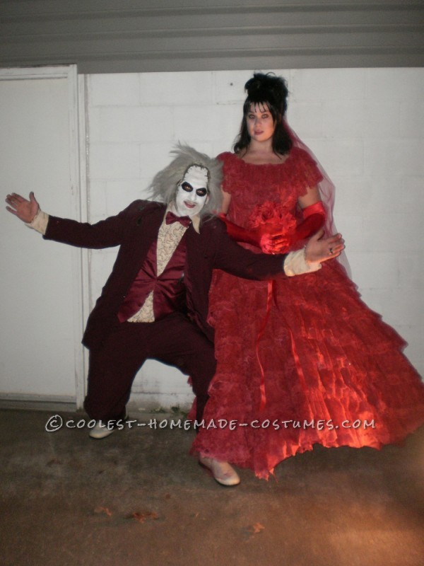 Coolest Beetlejuice and Lydia Couple Costume - 5