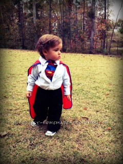 Coolest Clark Kent Homemade Toddler Costume