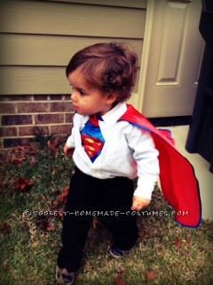 Coolest Clark Kent Homemade Baby Costume