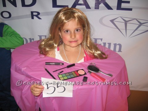 Coolest Homemade Barbie Makeup Head Costume