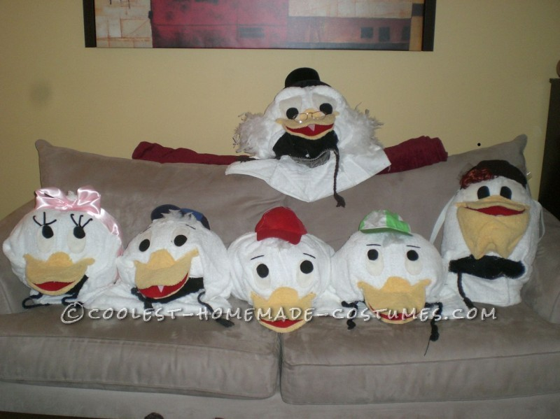 Coolest Homemade Duck Family Halloween Group Costume