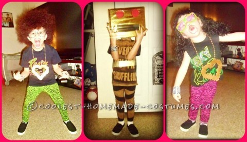 Every year we do homemade costumes and every year are boys costumes all go together! This year we decided to do LMFAO since they LOVE them!! Th