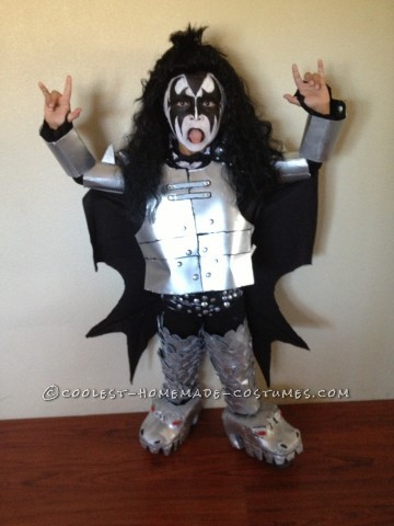 Coolest Kids Gene Simmons Homemade Halloween Costume: When I finally decided to make my son Gene Simmons around the beginning of October I thought I better get started! My brother in law helped me with th