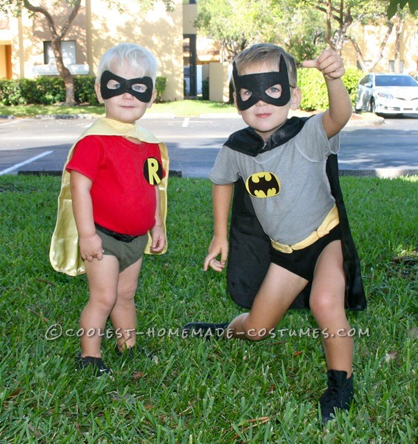 Coolest Little Boy Batman and Robin Couple Costume