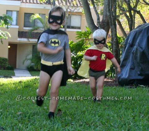 Coolest Little Boy Batman and Robin Couple Costume