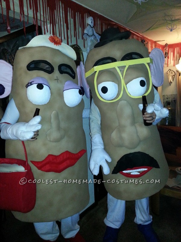 Mr and Mrs Potatohead arrive at the party!