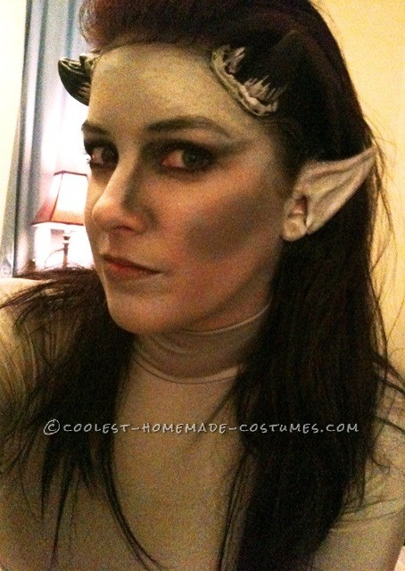 horns, ears, and makeup