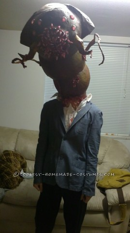 Creepy Parasitic Alien/Monster Costume Inspired by Resident Evil: Each Halloween I strive to create a costume that is unique or seldom if ever seen before. After seeing watching the movie Prometheus, the idea for an