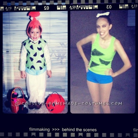 "Coolest Pebbles and Bamm Bamm Homemade Halloween Couples Costume: Intro:</p><p>This Halloween, I wanted to be Pebbles! I was Pebbles when I was 4 years old but this Halloween I was like ""I want to be grown-up Pebbles!"