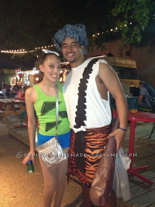 Coolest Pebbles and Bamm Bamm Homemade Halloween Couples Costume