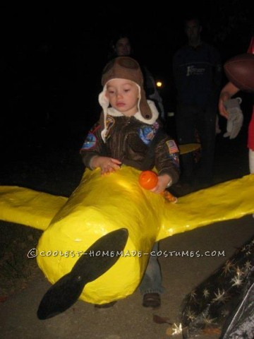 This is my son Jake in his Plane! My husband made this costume for him. I just did quality control ;-). Call me the project manager
