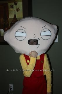 Coolest Stewie Griffin Halloween Costume for a Boy: I created this Stewie Griffin Costume for my 10 year old son and it was a big hit! When he was trick or treating, he was getting handful's of candy
