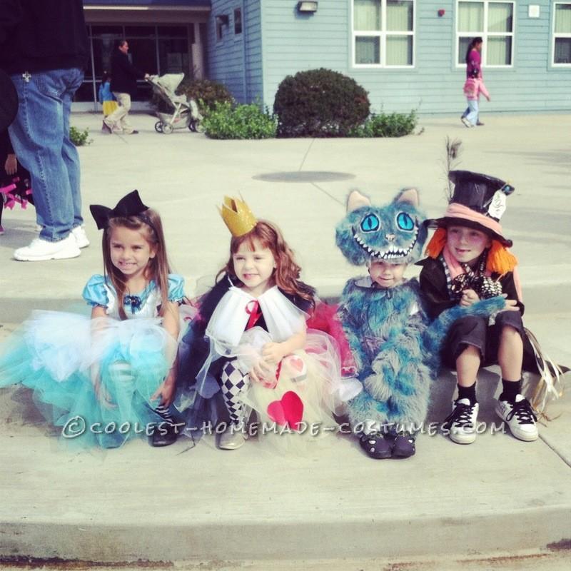 Tim Burton's Alice in Wonderland kids group costumes