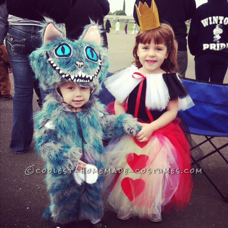 Blue Cheshire Cat and Queen of Hearts