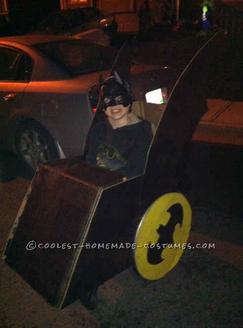 Coolest Wheelchair Batmobile Costume for a Boy