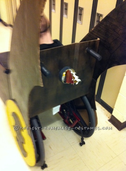 Coolest Wheelchair Batmobile Costume for a Boy - 9