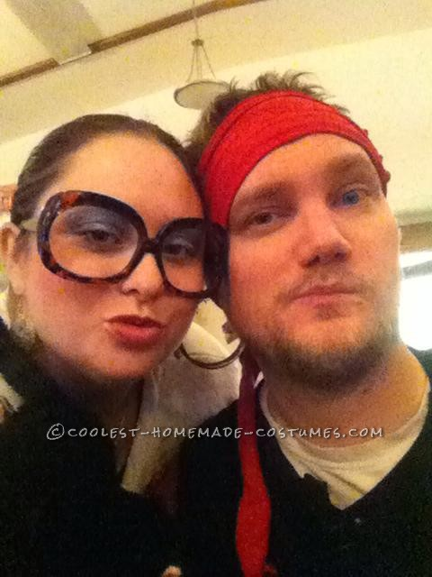 My husband was dressed as a pirate.