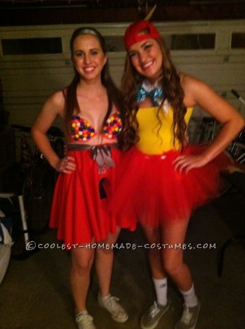 Cute Homemade Gumball Machine Costume