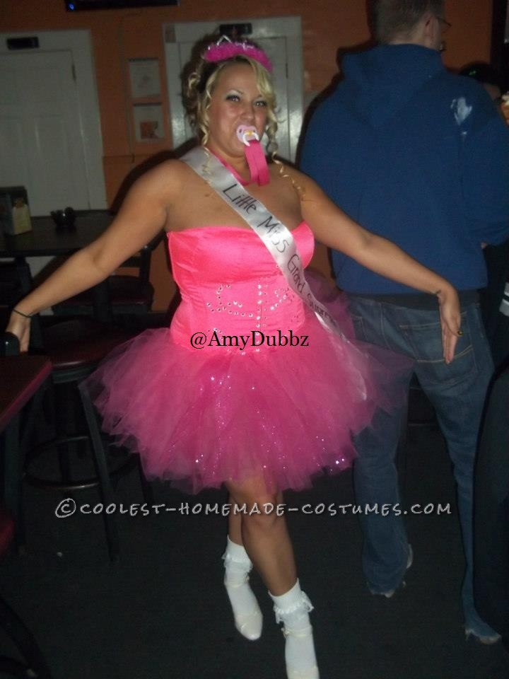 Cute Homemade Toddlers and Tiaras Costume