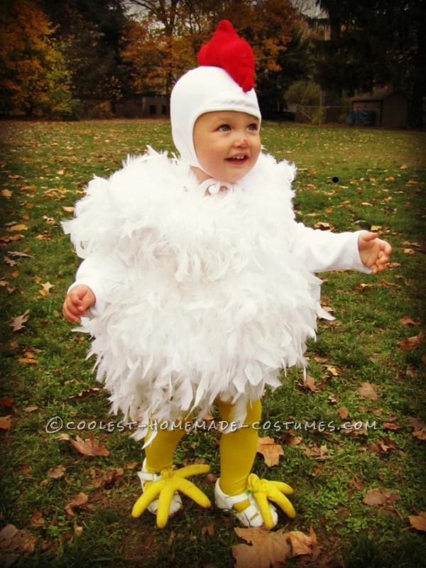 Homemade Toddler Chicken Costume
