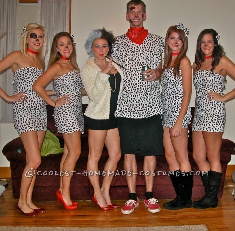 Cutest 101 Dalmations with Cruella de Vil Group Halloween Costume