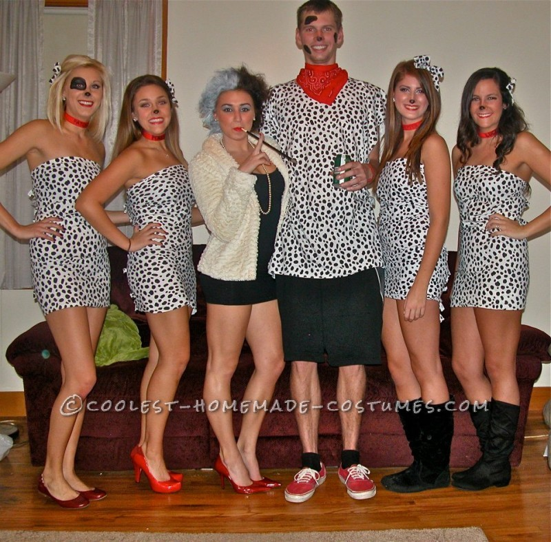 Cutest 101 Dalmations with Cruella de Vil Group Halloween Costume