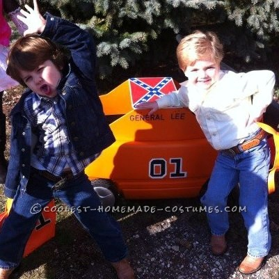 Cutest Little Dukes of Hazzard Bo and Luke Duke Costumes