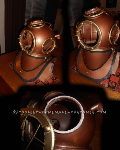 Awesome Homemade Deep Sea Diver Helmet: This year we decided to make a mermaid and pirate costume... however everyone dresses like pirates so we thought it would be cool to be a mermaid and