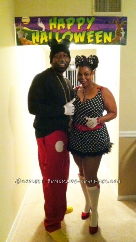 Disney 2K Hip Hop Mickey and Sassy Minnie Couple Costume