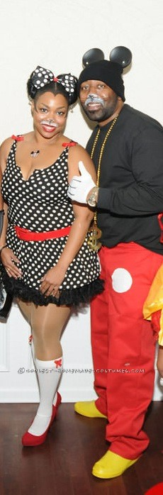 Disney 2K Hip Hop Mickey and Sassy Minnie Couple Costume - 1