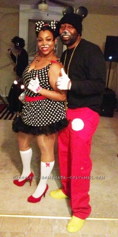 Disney 2K Hip Hop Mickey and Sassy Minnie Couple Costume - 7
