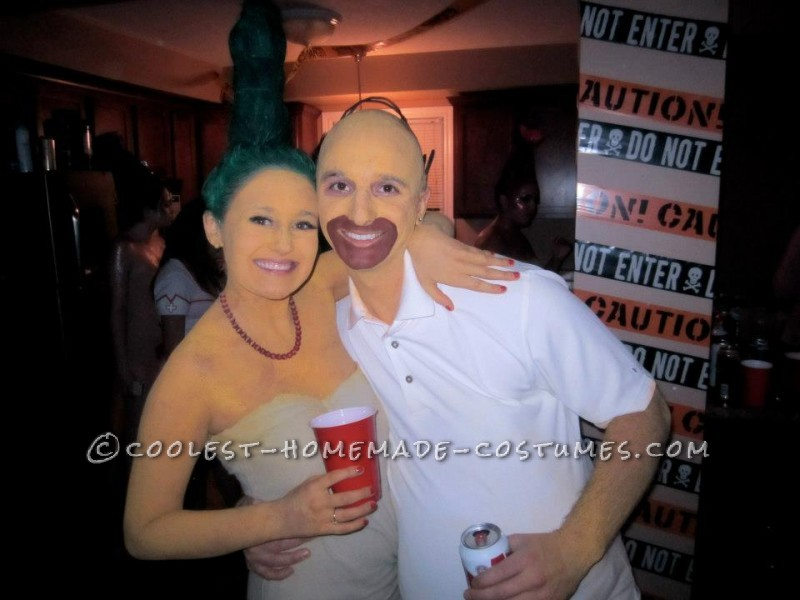 DIY Marge and Homer Simpson Costumes - 1