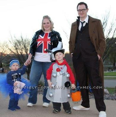 Our family are huge Doctor Who fans! We've wanted to do these costumes for a few years now, but now with two kids to add to the mix, we finall