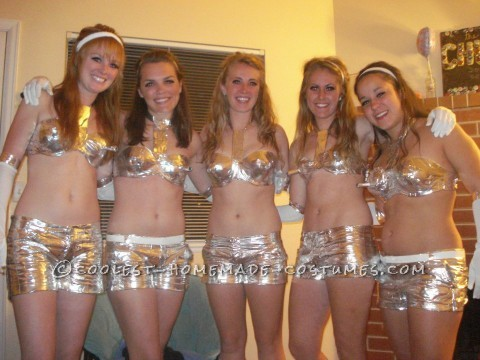 Duct Tape Fembot Costume for a Group of Girls