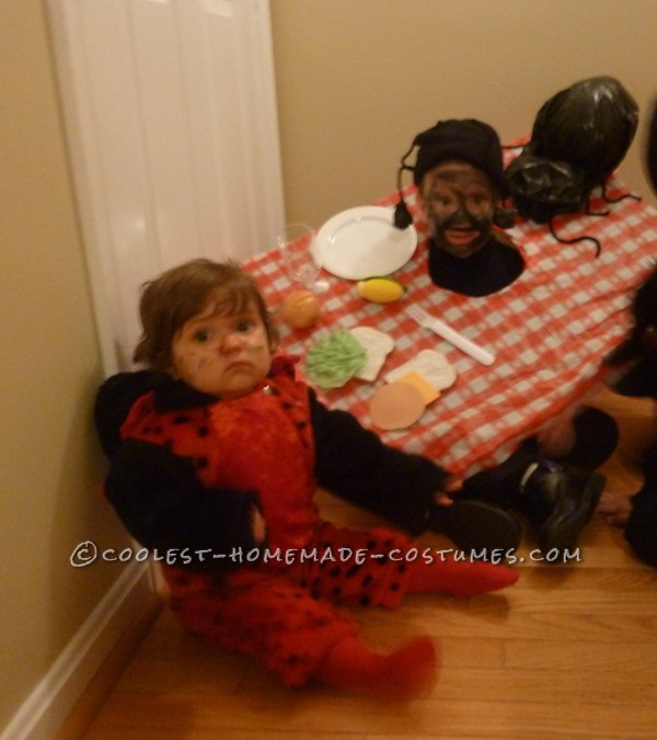 Easy and Fun Ant at Picnic Costume: This Ant at Picnic costume was a fun and very easy costume to make. My daughter was a lady bug and I needed something to go with it so an ant at a p