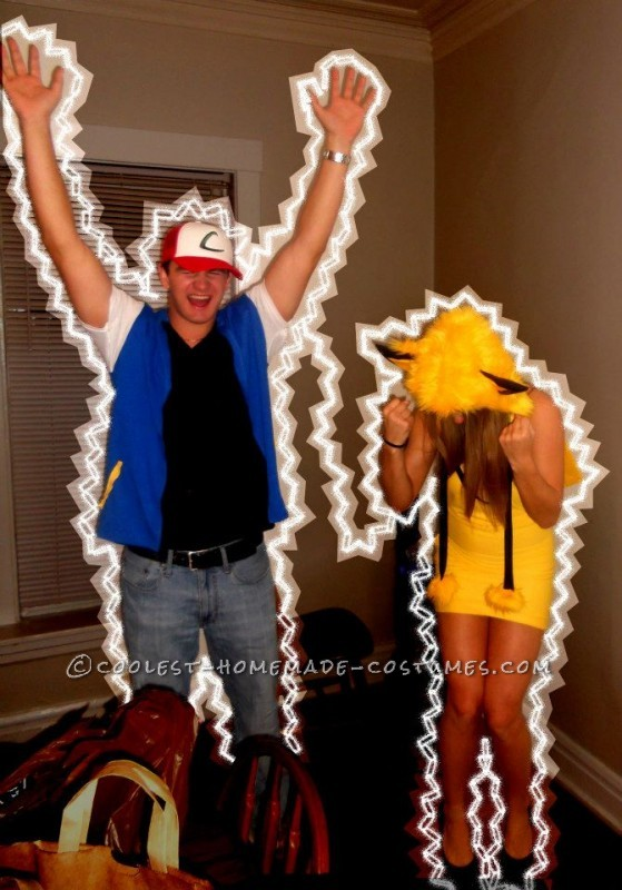Easy Ash and Pikachu Couple Costume - 2