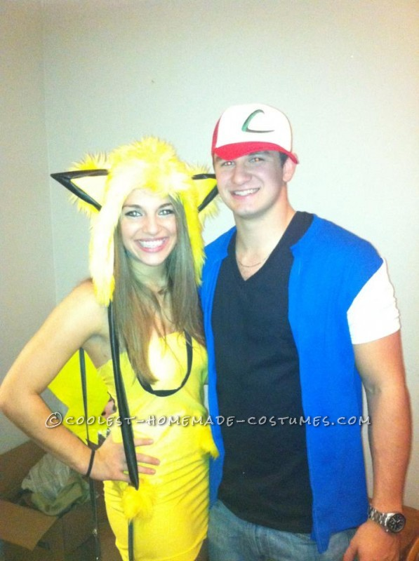 Easy Ash and Pikachu Couple Costume - 1