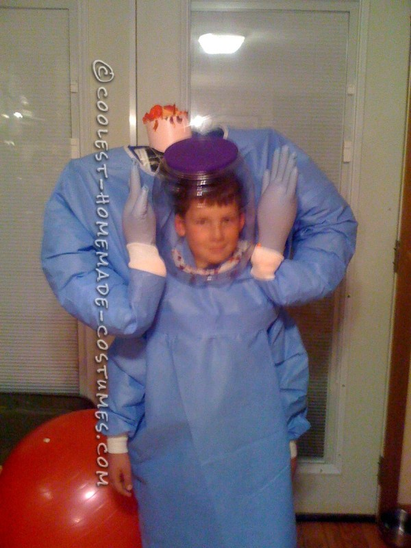 Easy and Cheap Headless Mad Scientist Costume