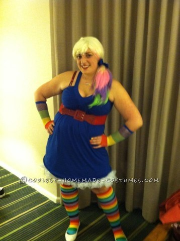 Easy Homemade Rainbow Brite Costume: I loved the show Rainbow Brite when I  was younger, despite the fact I was only alive for about a month in the 80's. (The joys of having older sib