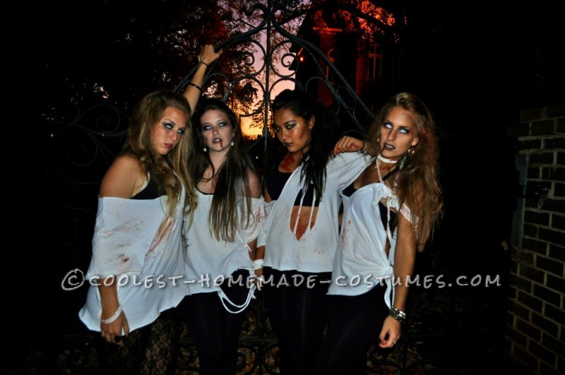 Easy Last-Minute College Girl Group Costume: Sexy Zombies - 4
