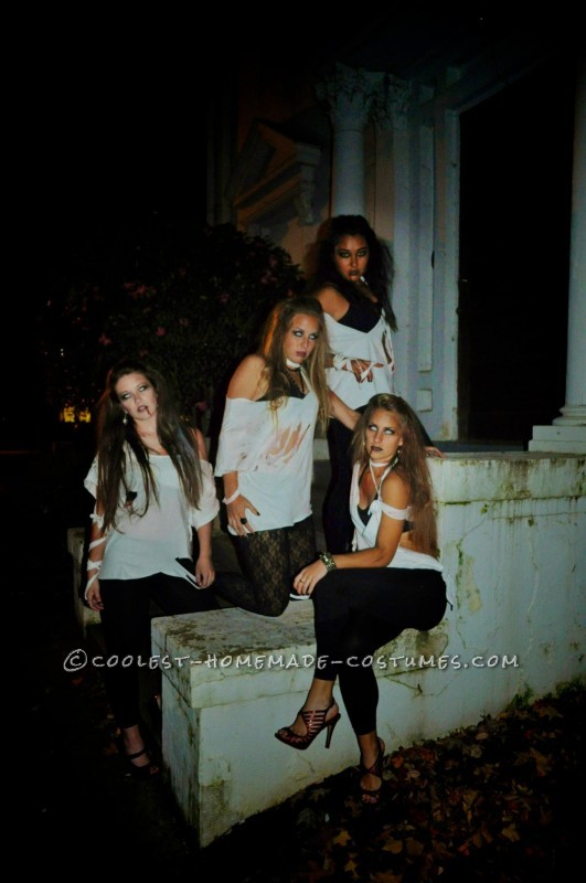 Easy Last-Minute College Girl Group Costume: Sexy Zombies - 2