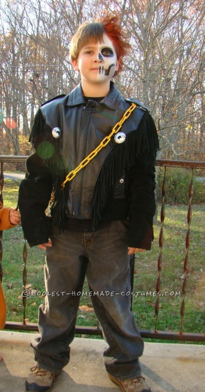 Easy, Super Cool Ghost Rider Costume for Kids