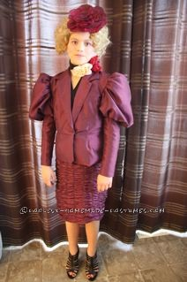 Coolest Effie Trinket from The Hunger Games Girl Halloween Costume - 6