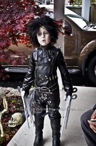 Epic Homemade Edward Scissorhands Halloween Costume for a Boy