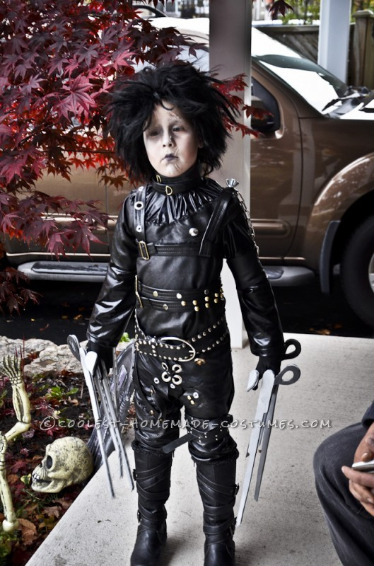 Epic Homemade Edward Scissorhands Halloween Costume for a Boy - 1