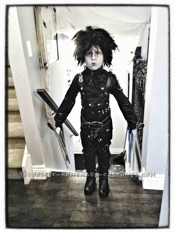 Epic Homemade Edward Scissorhands Halloween Costume for a Boy