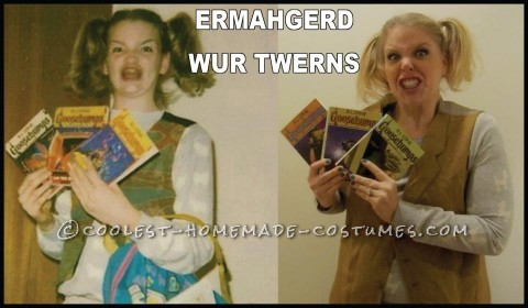 Funny Last-Minute Ermahgerd Girl Internet Meme Halloween Costume